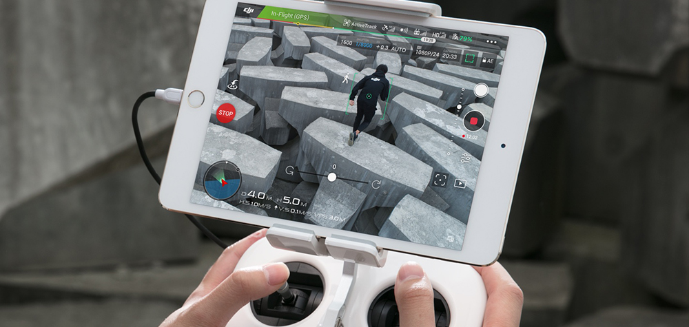Télécommande DJI Phantom 4 Advanced iPad