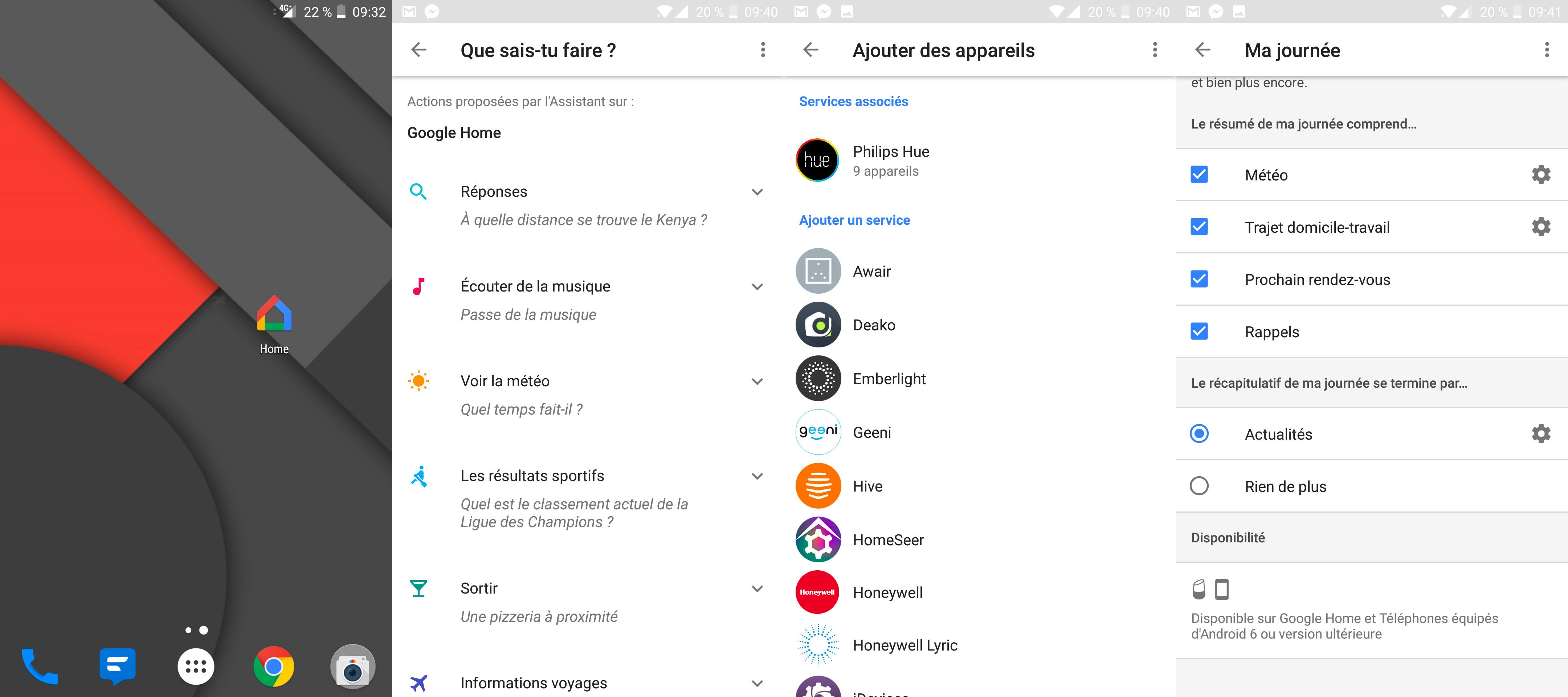 L'application du Google Home