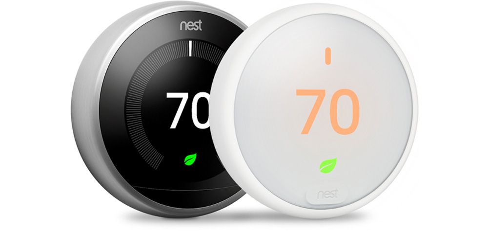 Design du Thermostat Nest et du Thermostat E