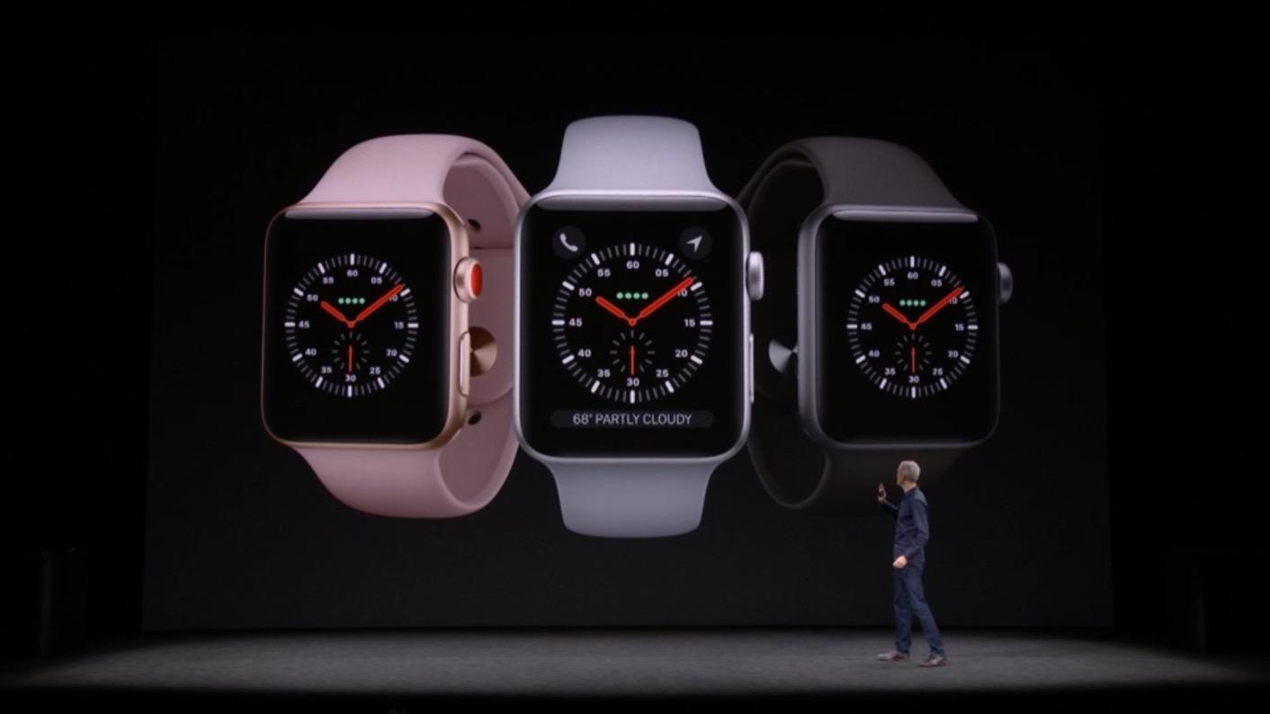 Apple Watch Series 3 coloris