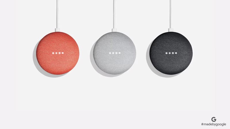 Couleurs Google Home Mini