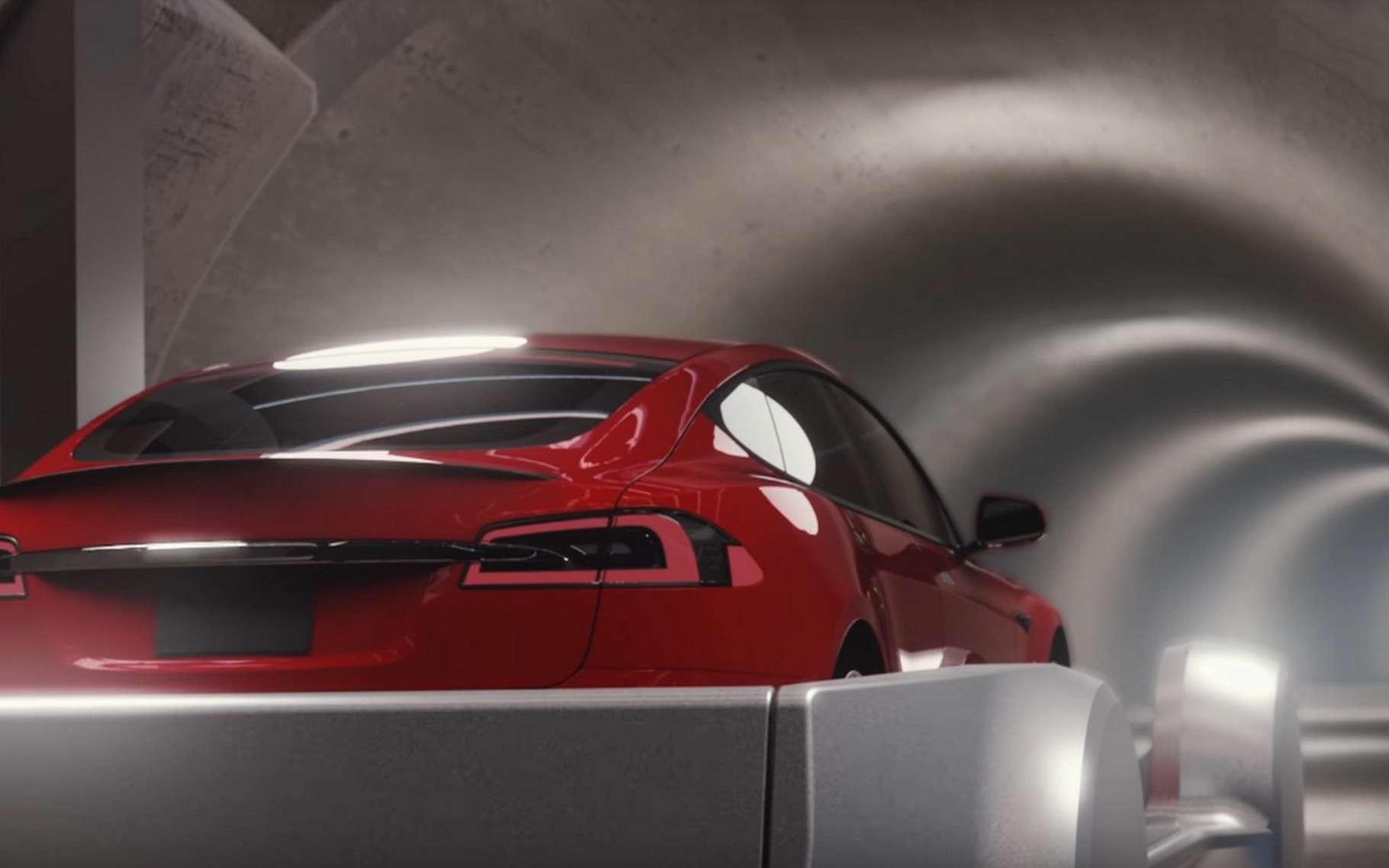 tunnel à voiture transport Elon musk