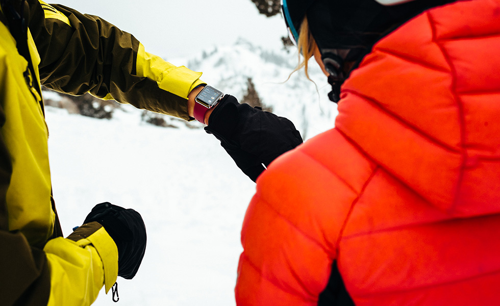 Apple Watch Series 3 ski snow