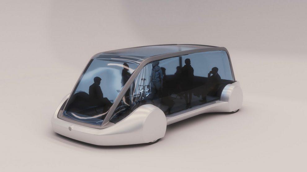The Boring Company train