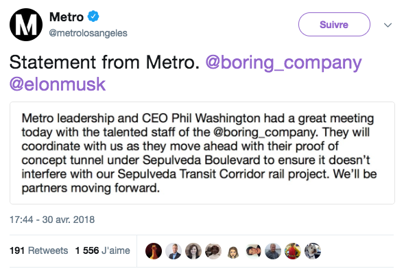 Loop Metro Elon Musk Los Angeles