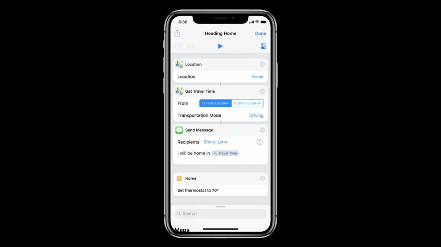 Apple Shortcuts Siri